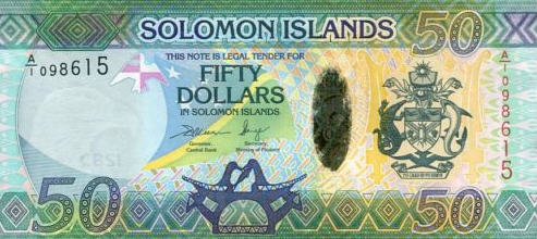 P35 Solomon Islands 50 Dollars N.D. (Hybrid)